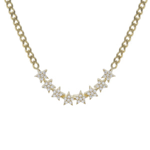 Stars Cuban Chain Choker Gold - Adina's Jewels