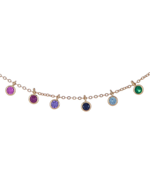 Multi-Color Rainbow Necklace - Adina's Jewels