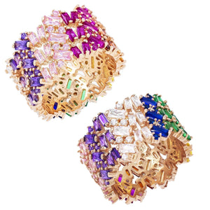 Baguette Ring Multi-Color / 8 - Adina's Jewels