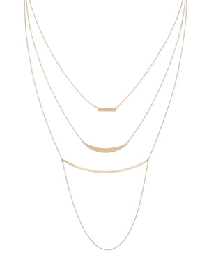 Layered Necklace 14K - Adina's Jewels