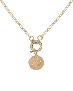 Gold Greek Coin Necklace - Adina's Jewels