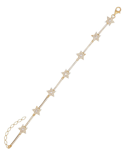 Gold Starz Bracelet - Adina's Jewels