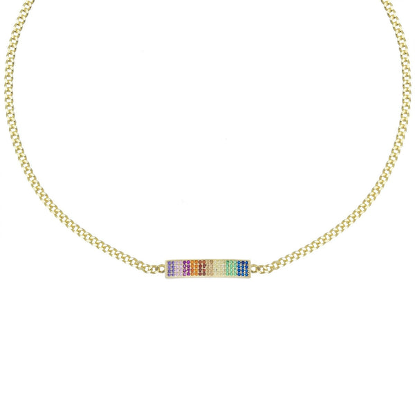 Multi-Color Rainbow Bar Choker - Adina's Jewels
