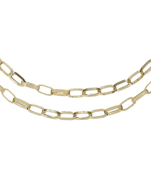 New York Double Necklace Gold - Adina's Jewels