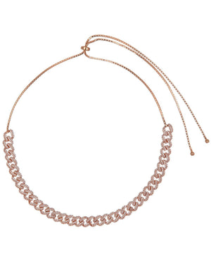 Chain Link Choker Rose Gold - Adina's Jewels