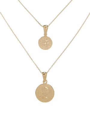 Gold Coin Set Necklace - Adina's Jewels