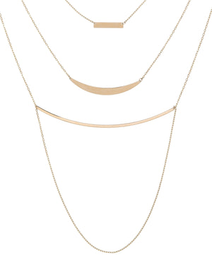 14K Gold Layered Necklace 14K - Adina's Jewels