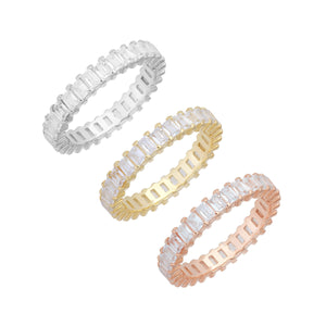 Combo / 7 Trio Baguette Ring Set - Adina's Jewels