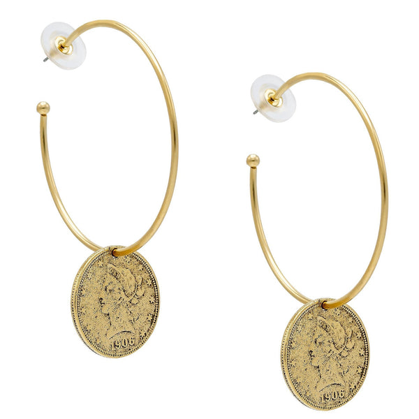 Gold Vintage Hoops - Adina's Jewels