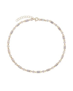 Gold Multi Stones Anklet - Adina's Jewels