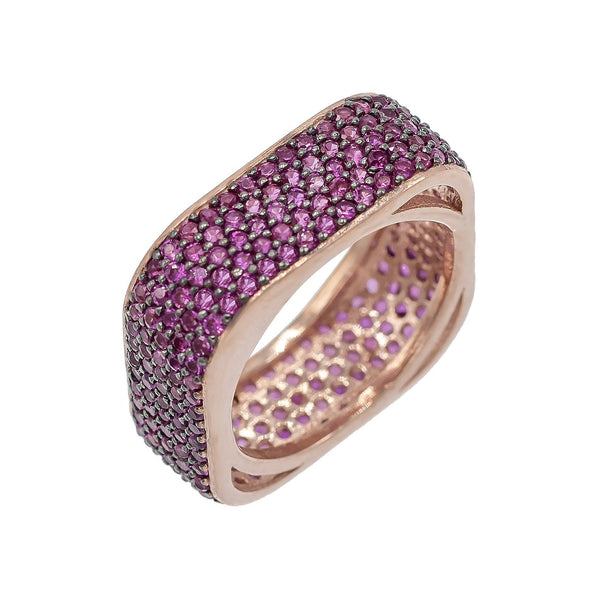 Pavé Square Ring - Adina's Jewels