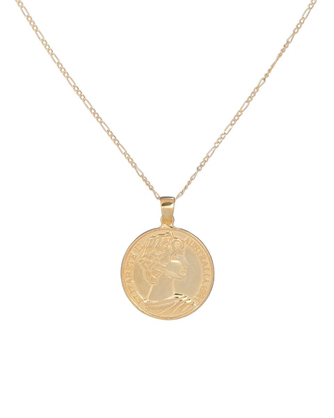 Gold Goddess Coin Necklace - Adina's Jewels