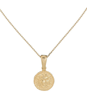 Gold Mini Coin Necklace - Adina's Jewels