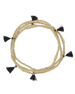 Black Tassel Bracelet 5x - Adina's Jewels