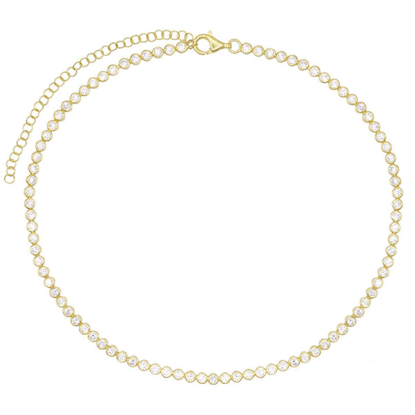 Bezel Tennis Choker - Adina's Jewels