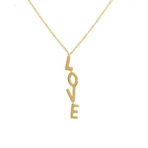 14K Gold Dancing Love Necklace 14K - Adina's Jewels