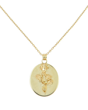 Gold Rose Tag Necklace - Adina's Jewels