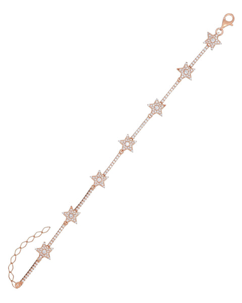 Rose Gold Starz Bracelet - Adina's Jewels
