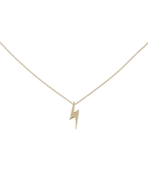 14K Gold Lightning Necklace 14K - Adina's Jewels