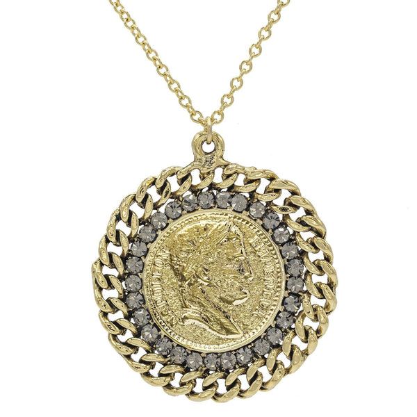 Gold Coin Pendant Necklace - Adina's Jewels