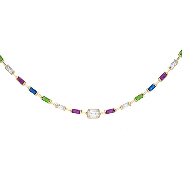 Multi-Color Stone Choker - Adina's Jewels