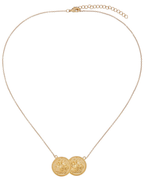Double Coin Necklace - Adina's Jewels