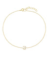 Gold / A Tiny Lowercase Pavé Initial Anklet - Adina's Jewels