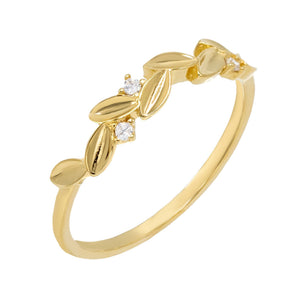 Leaf Ring Gold / 7 - Adina's Jewels