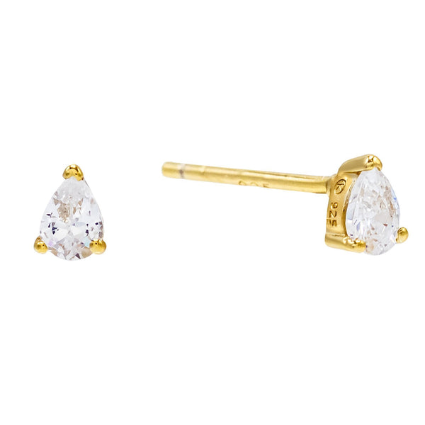 Gold Mini Teardrop Stud Earring - Adina's Jewels