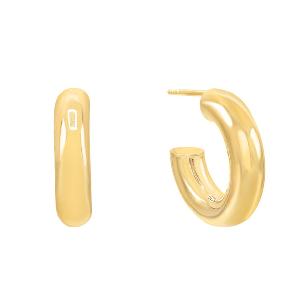 Gold / 20 MM Thick Hollow Hoop Earring - Adina's Jewels