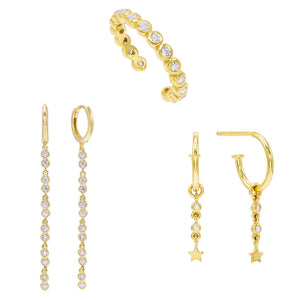 Bezel Earring Combo Set Combo - Adina's Jewels