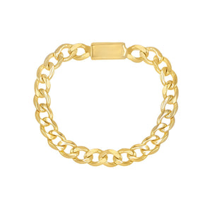 Solid Chain Link Ring 14K 14K Gold / 7 - Adina's Jewels