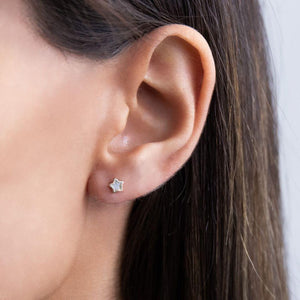 Mother of Pearl Star Mini Stud Earring 14K - Adina's Jewels
