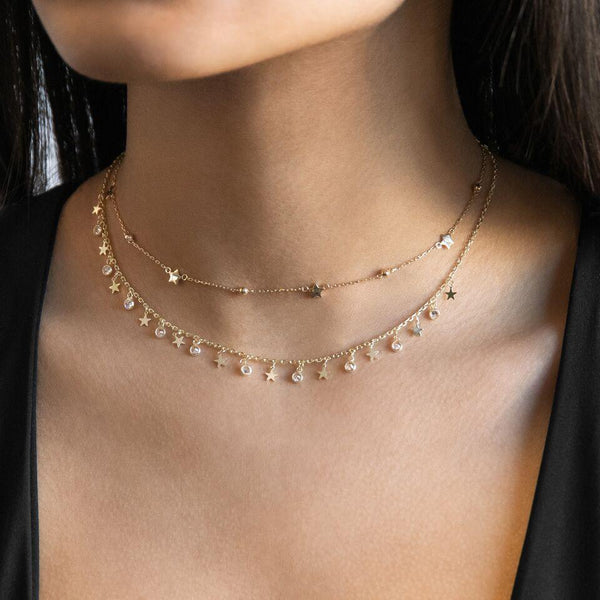 Dainty Star Choker - Adina's Jewels