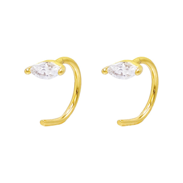 CZ Threader Hoop Earring