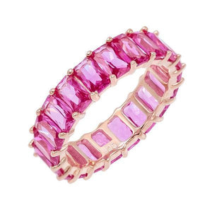 Multi Pink Eternity Bands Magenta / 5 - Adina's Jewels