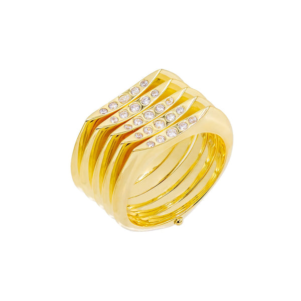 Gold / 8 Five Stack Ring - Adina's Jewels