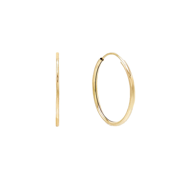 Endless Hoop Earring 14K - Adina's Jewels
