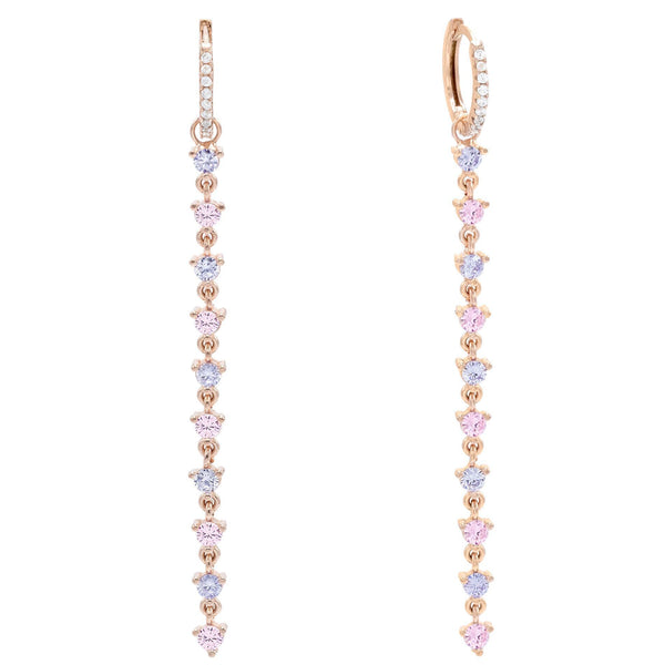 Light Pink Pastel Drop Huggie Earring - Adina's Jewels