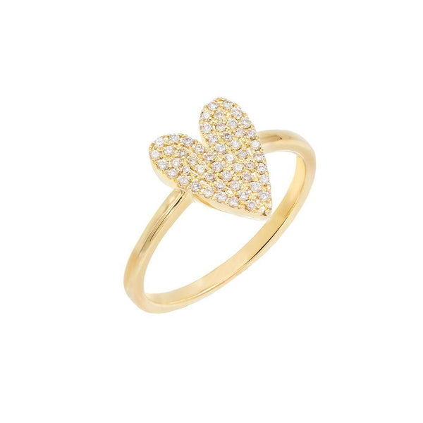 Diamond Heart Ring 14K 14K Gold / 7 - Adina's Jewels