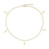Lightning Anklet Gold - Adina's Jewels