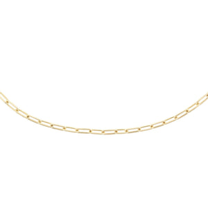 "Medium Paperclip Chain Necklace 14K 14K Gold / 16"" - Adina's Jewels"