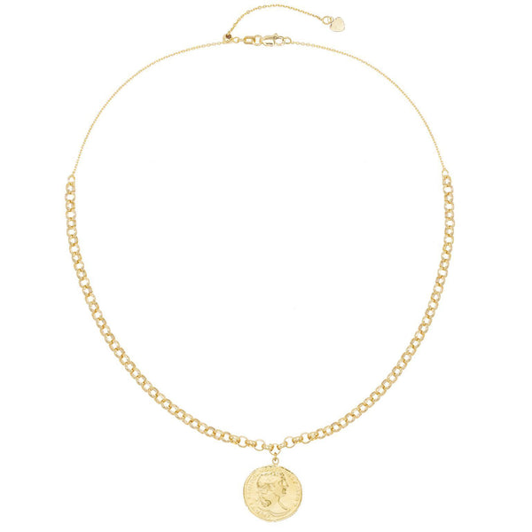 Coin Adjustable Necklace 14K