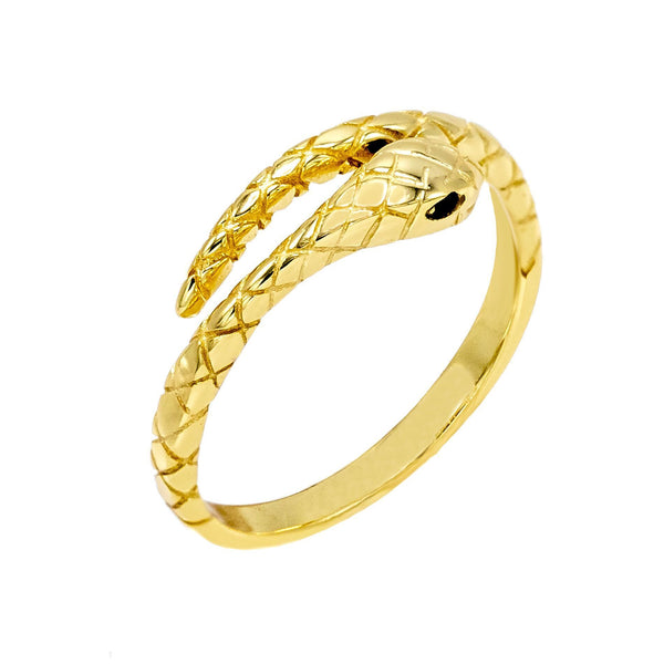 Gold / 5 Gold Snake Ring - Adina's Jewels