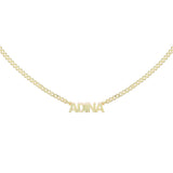 Gold / 1 Mini Nameplate Choker - Adina's Jewels