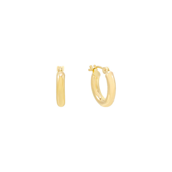 14K Gold / 15 MM Hollow Hoop Earring 14K - Adina's Jewels