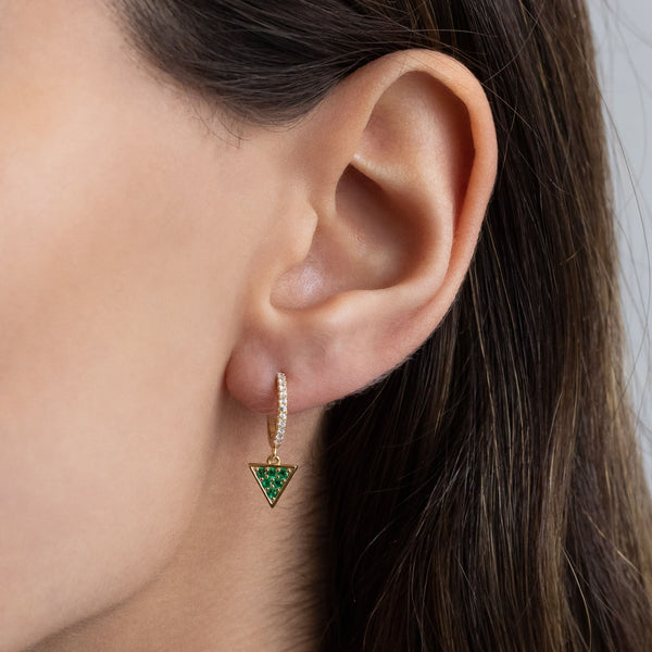 Triangle Huggie Earring - Adina's Jewels