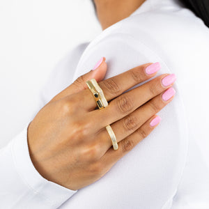 Pavé Chunky Heart Ring - Adina's Jewels