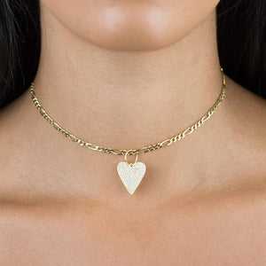 Pavé Heart Charm - Adina's Jewels