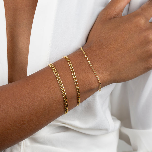Thin Link Bracelet 14K - Adina's Jewels
